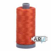 Aurifil 28 Cotton Thread - 2240 (Dark Pumpkin Orange)